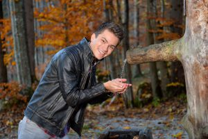 Andreas Hastreiter, Fotoshooting, Wald - 1