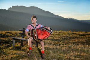 Andreas Hastreiter Shooting mit Akkordeon
